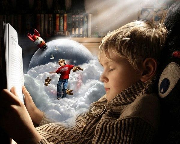 Чтение – отличный тренер воображения.