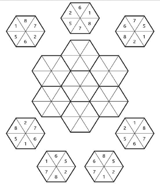 Размести шестиугольники