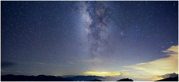 ночное небо в горах фото
