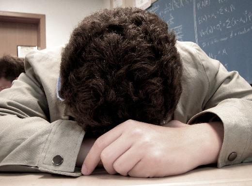 спящий школьник картинка